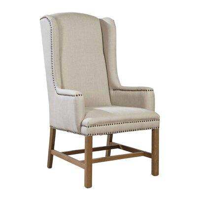 Linen Host Wing Chair