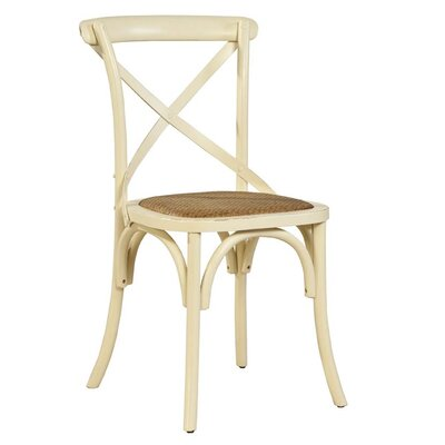 Bentwood Solid Wood Dining Chair (Set of 2) Finish: Cream