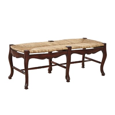 French Country Mahogany Dining Bench Finish: Walnut Brown on Mahogany