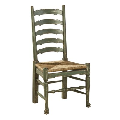 Painted English Country Solid Wood Dining Chair (Set of 2) Finish: Green