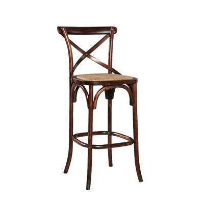 Bentwood 30.5 Bar Stool (Set of 2) Color: Brown Birch/Oak