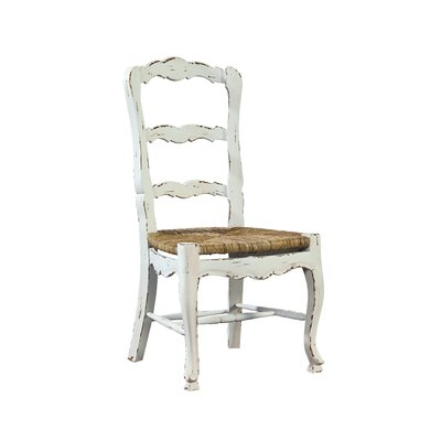 French Ladder Back Solid Wood Dining Chair (Set of 2)