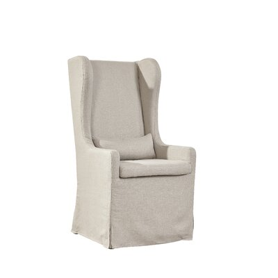 Highback Linen Host Wing Chair