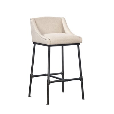 Pipe Linen & Iron Bar Stool