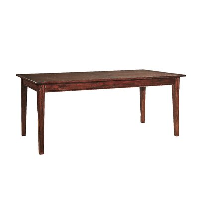 Hand Planed Dining Table Color: Distressed Brown