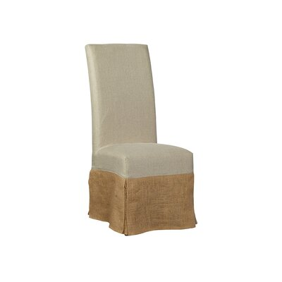 Burlap Slip Covered Parsons Upholstered Dining Chair