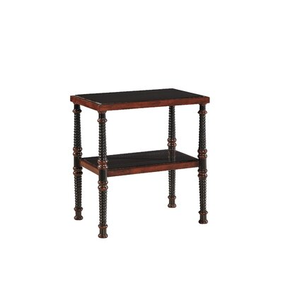 Lombard End Table in Walnut Brown on Mahogany