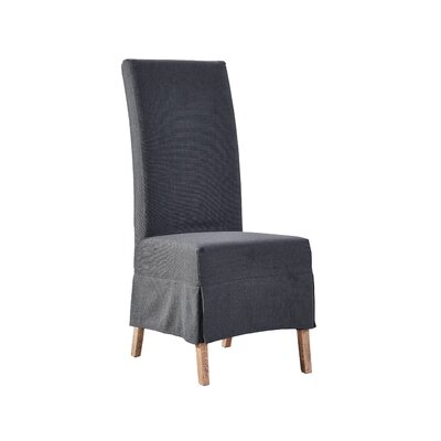 Upholstered Dining Chair (Set of 2) Finish: Slate