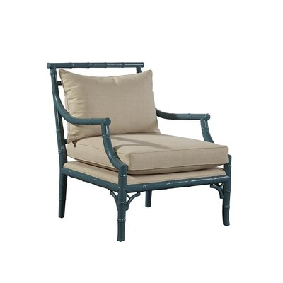 Faux Bamboo Rayon Arm Chair Finish: Turquoise