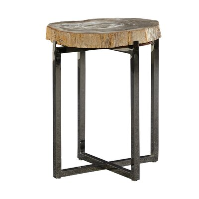 Fossil Stone End Table