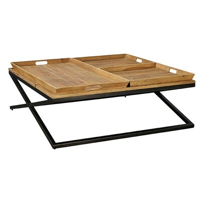 Tres Coffee Table with Tray Top