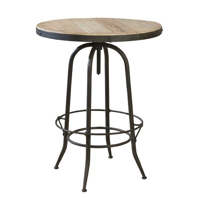 Industrial Adjustable Pub Table