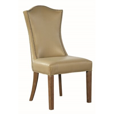 Emperor Side Chair (Set of 2) Upholstery: Beige