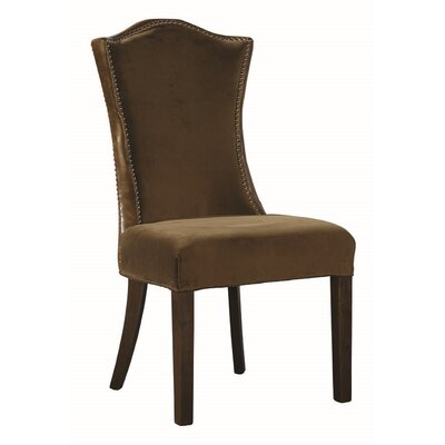 Emperor Side Chair (Set of 2) Upholstery: Brown