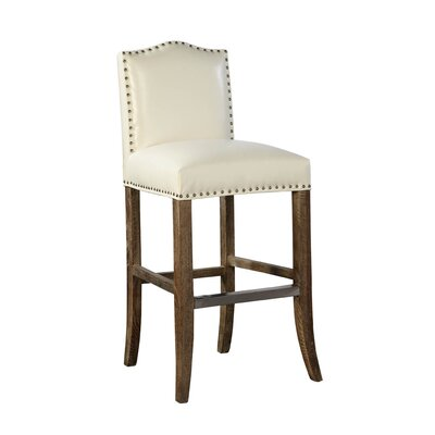 Pauper Bar Stool Color: Vanilla