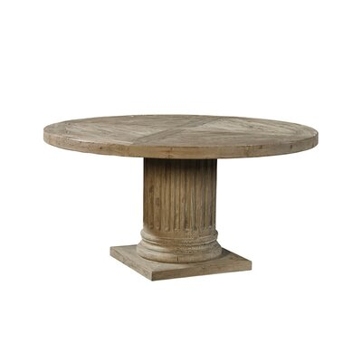Doric Ashen Pedestal Dining Table