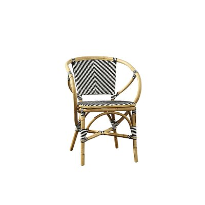 Coletta Bistro Barrel Chair Color: Black