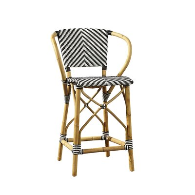 Coletta Bar Stool Color: Black