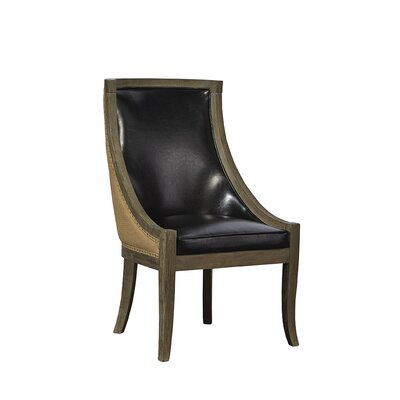 Scoop Upholstered Dining Chair Upholstery Color: Black