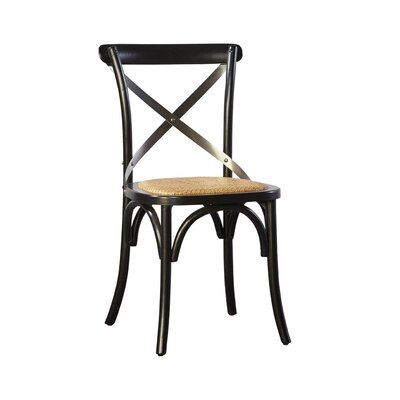 Waldhaus Bent Side Chair (Set of 2) Color: Black