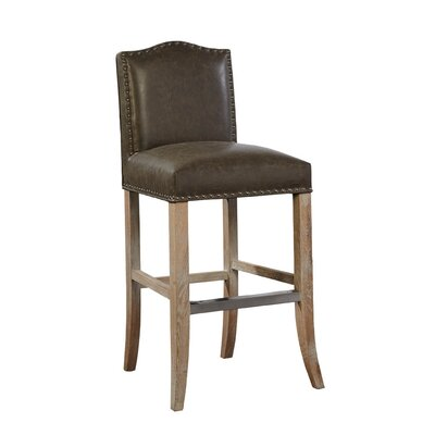 Pauper Bar Stool Color: Taupe