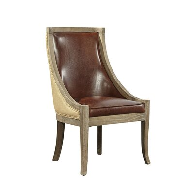 Scoop Upholstered Dining Chair Upholstery Color: Brown