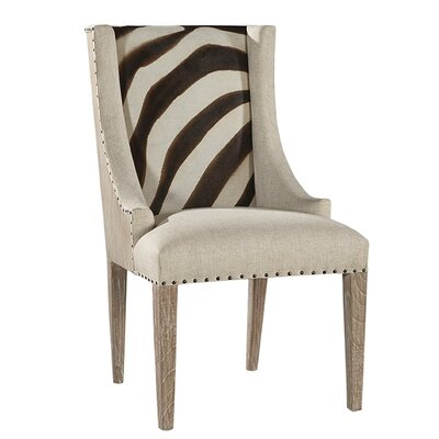 Zebra Scoop Upholstered Dining Chair