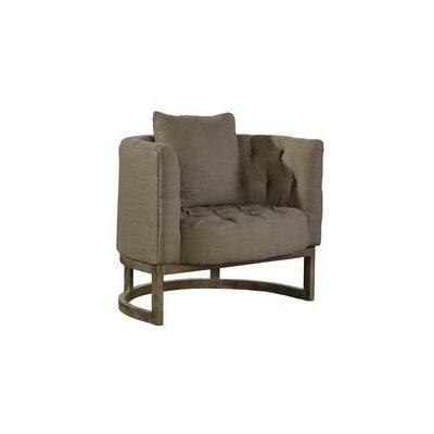 Tufted Semi Circle Barrel Chair