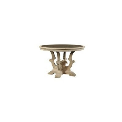 Scrolled Pedestal Zinc Top Dining Table