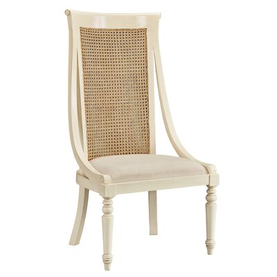 Miyashiro High Back Dining Chair (Set of 2) Frame Color: White