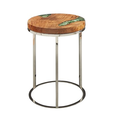 Lebel End Table Table Top Color: Green
