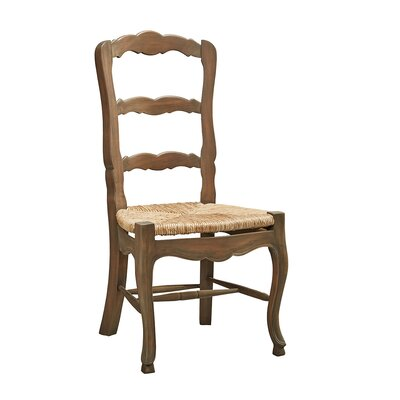Rossignac-Milon Ladderback Solid Wood Dining Chair (Set of 2)