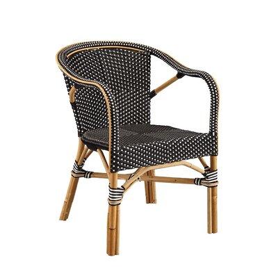 Coletta Bistro Barrel Chair (Set of 2) Color: Black