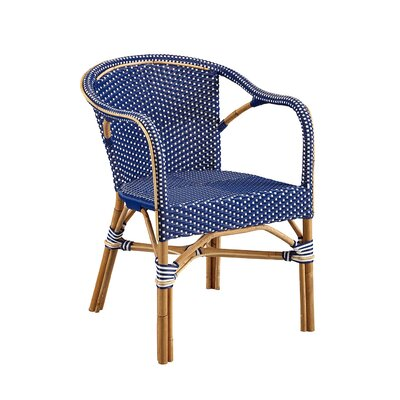 Coletta Bistro Barrel Chair (Set of 2) Color: Blue