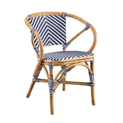 Coletta Bistro Barrel Chair Color: Blue