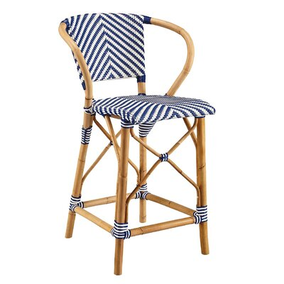 Coletta Bar Stool Color: Blue