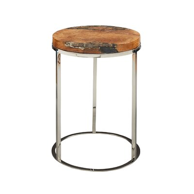 Lebel End Table Table Top Color: Gold