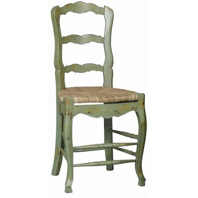 24 Bar Stool (Set of 2) Frame Color: Antiqued Green, Blue/Green and Yellow Shades
