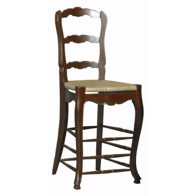 Bar Stool (Set of 2) Frame Finish: Walnut Brown on Mahogany