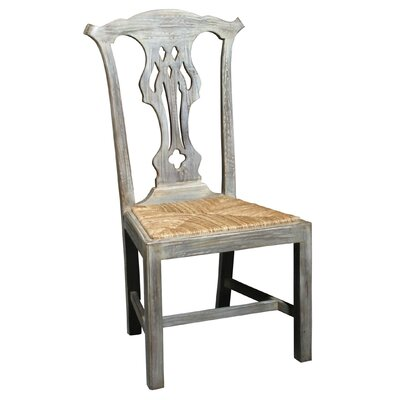 English Country Solid Wood Dining Chair (Set of 2) Color: Swedish Grey Wash, Driftwood