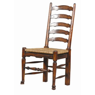 English Country Mahogany Ladderback Side Chair (Set of 2)