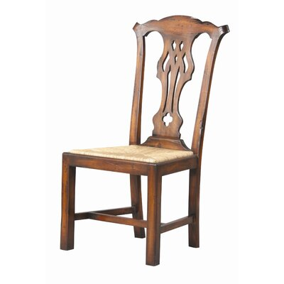English Country Solid Wood Dining Chair (Set of 2) Finish: Old World, Heavily Distressed