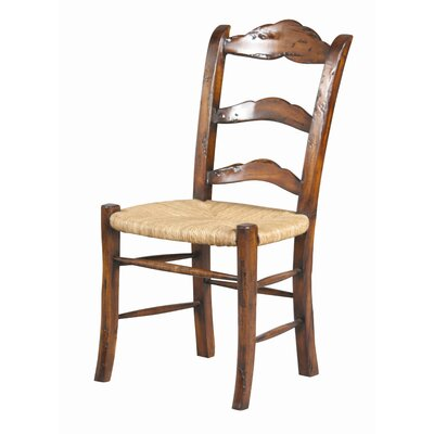 Caroline Solid Wood Dining Chair (Set of 2) Finish: Old World