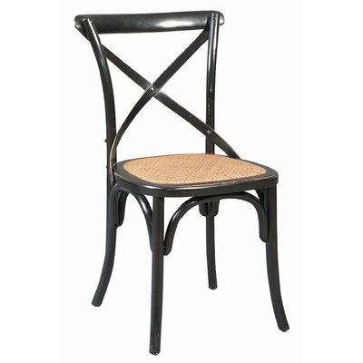 Bent Side Chair (Set of 2) Finish: Black with Subtle Rub Through