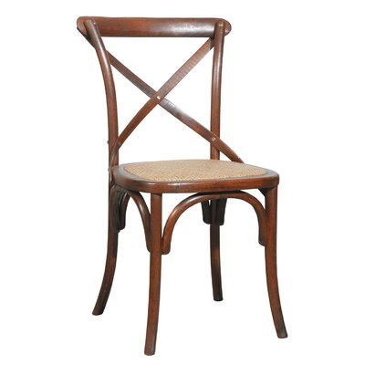 Bent Side Chair (Set of 2) Finish: Brown