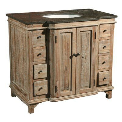 36 Single Reclaimed Pine Bathroom Vanity Set