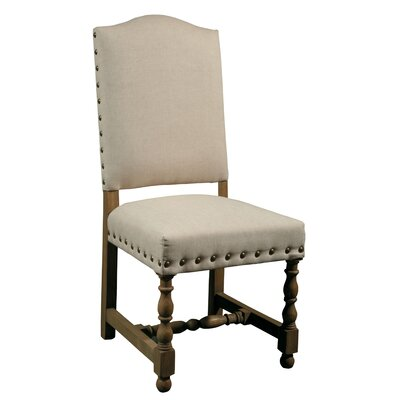 Madrid Side Chair (Set of 2) Finish: White Fabric