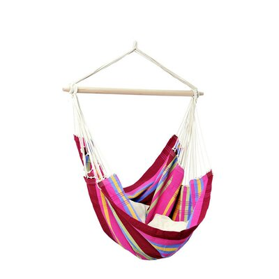 Brazil Cotton Chair Hammock Color: Sorbet