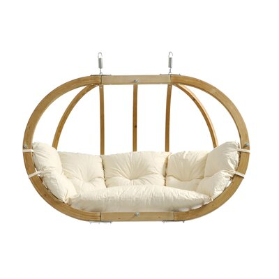 Globo Double Chair with Cushion Color: Natural