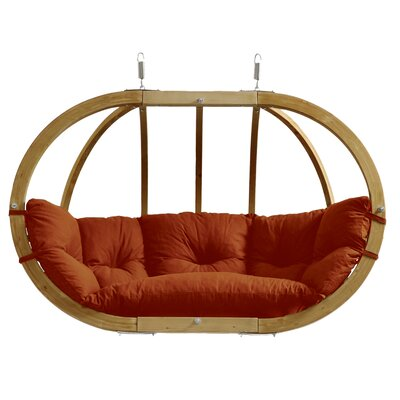 Globo Double Chair with Cushion Color: Terra Cotta